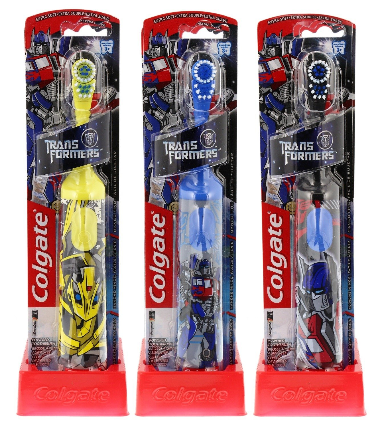 Colgate Transformers Kids Powered Toothbrush, Extra Soft, 1 Count (Colors May Vary), Assorted Colgate-Palmolive CA 68753
