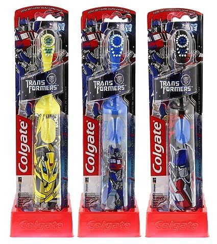 Colgate Transformers Battery Powered Extra Soft cepillo de dientes, 1ct