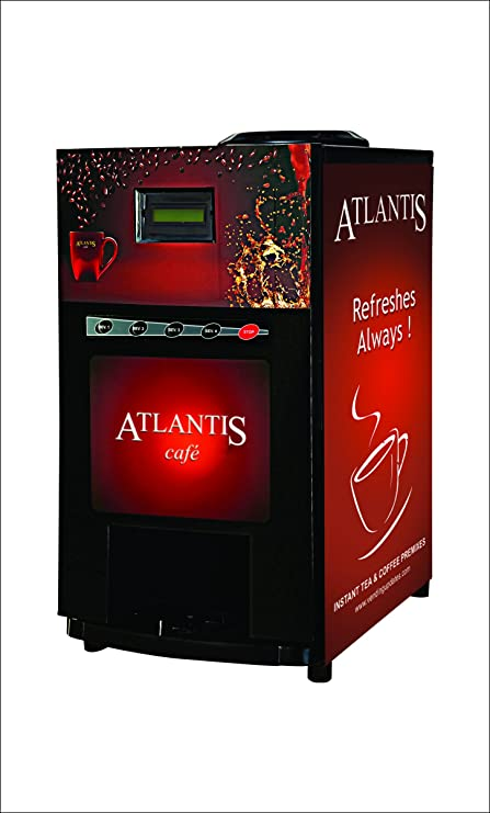 Atlantis Cafe Plus Three Option Tea Coffee Soup Vending Machine (Special Offers) Electric Grinders at amazon