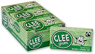 product image for Glee Gum All Natural Spearmint Gum, Non GMO Project Verified, Eco Friendly, 16 Piece Box, Pack of 12