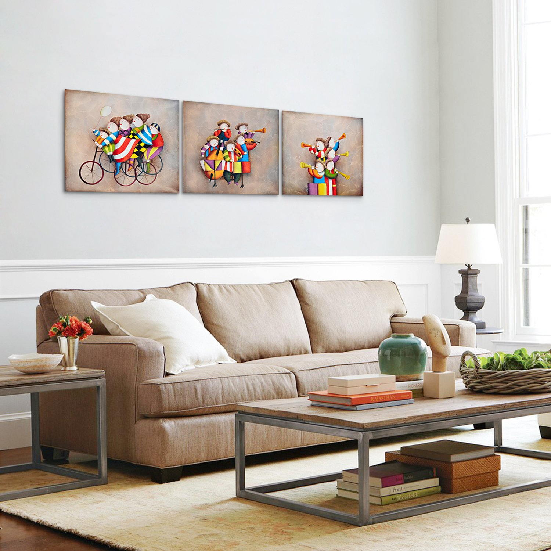 ... Lienzo 100% Pintada a Mano Niños Dibujos Lindos Mono para hogar decorativos Arte Pared Dormitorio Infantil, Sin bastidor (Guitarra): Amazon.es: Hogar