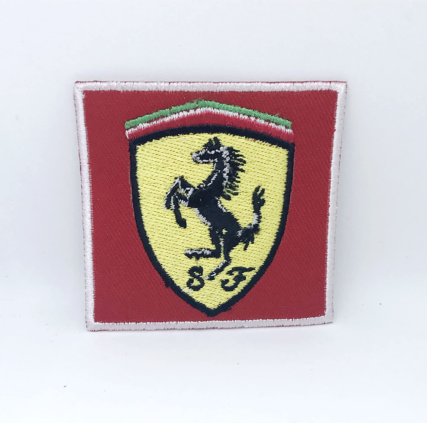 Red Horse Sports Iron// Sew-on Embroidered Patch// Badge// Logo