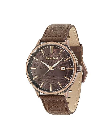 Timberland Reloj Análogo clásico para Hombre de Cuarzo con Correa en Cuero 15260JSQBZ/12