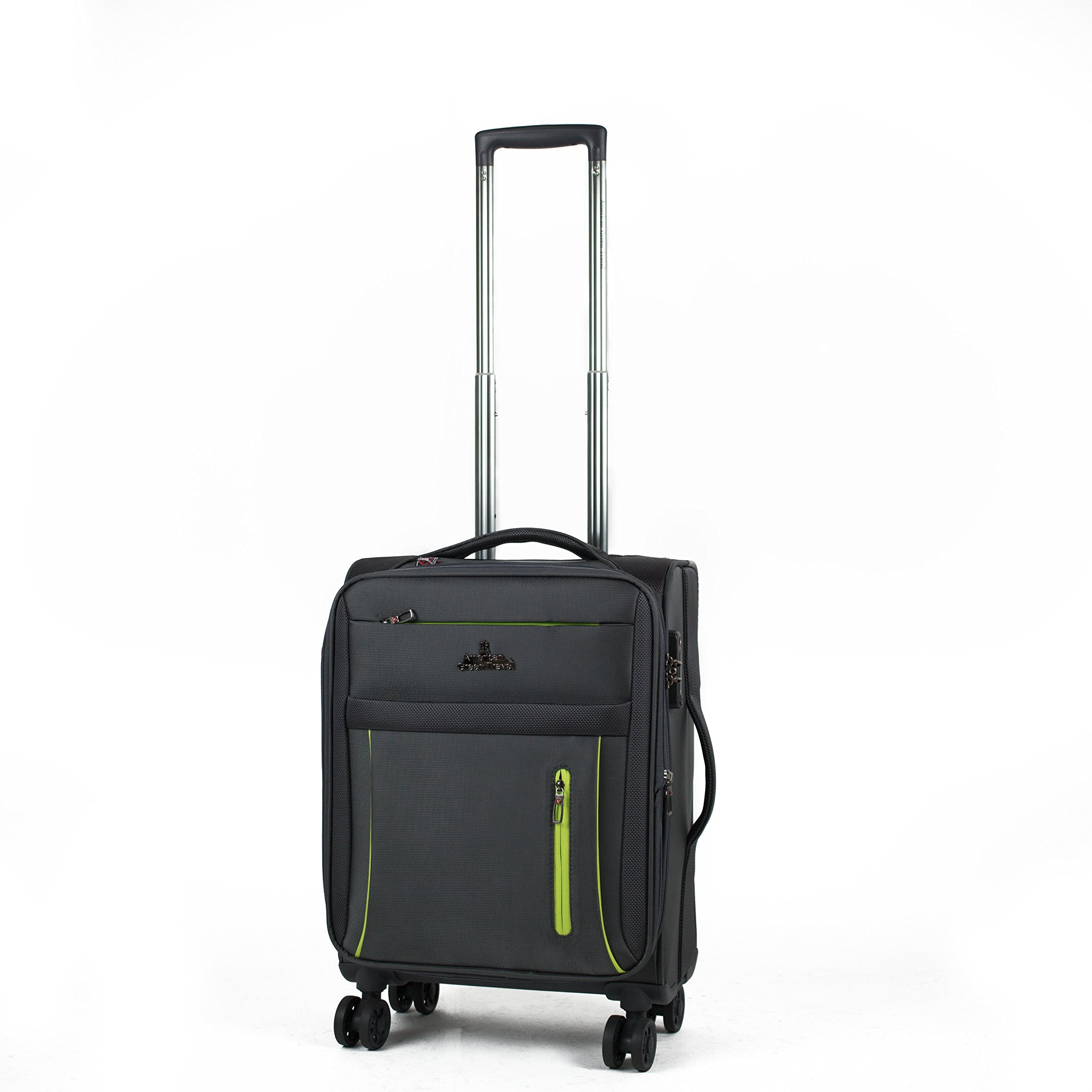 American Green Travel Carry-On Seteria Anti-Theft Luggage, Grey