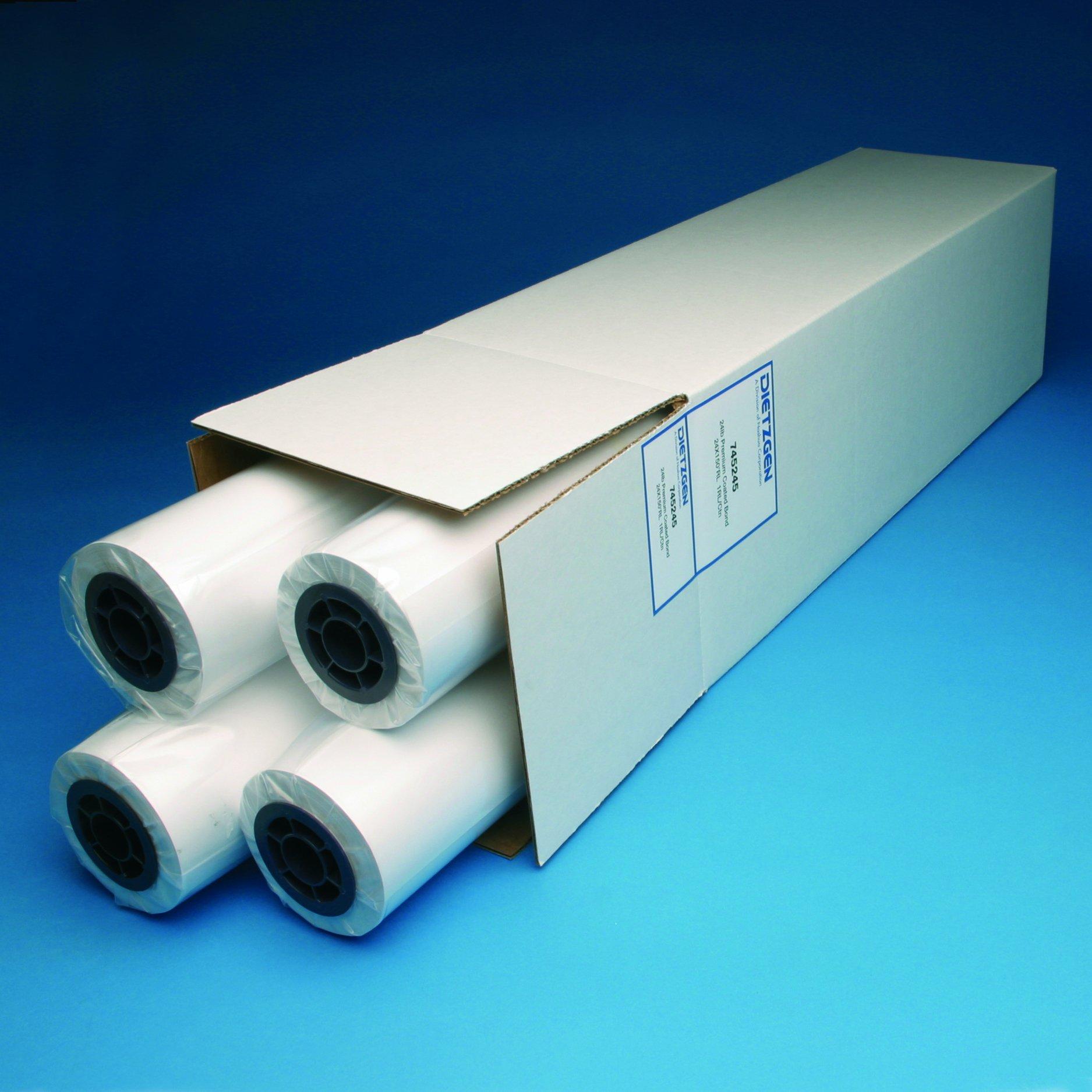 Inkjet Presentation Bond , 24lb, 24'' x 150' 4 Roll/Carton, 731245U
