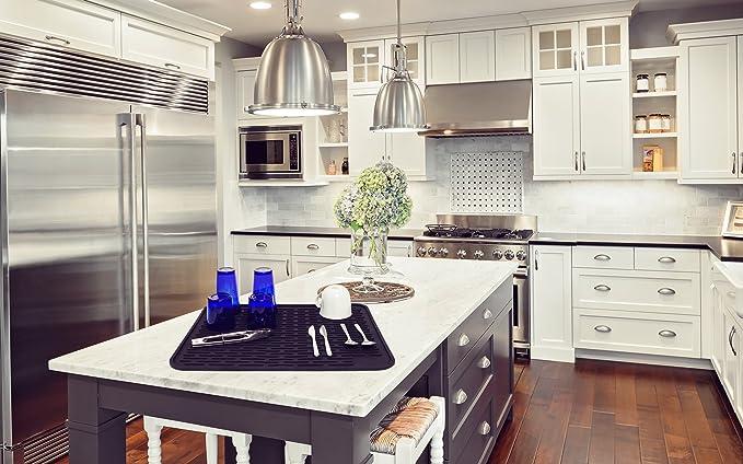 Large Dish Drainer SYNCHKG112862 LISH XL Silicone Dish Drying Mat 22 x 18 Inch
