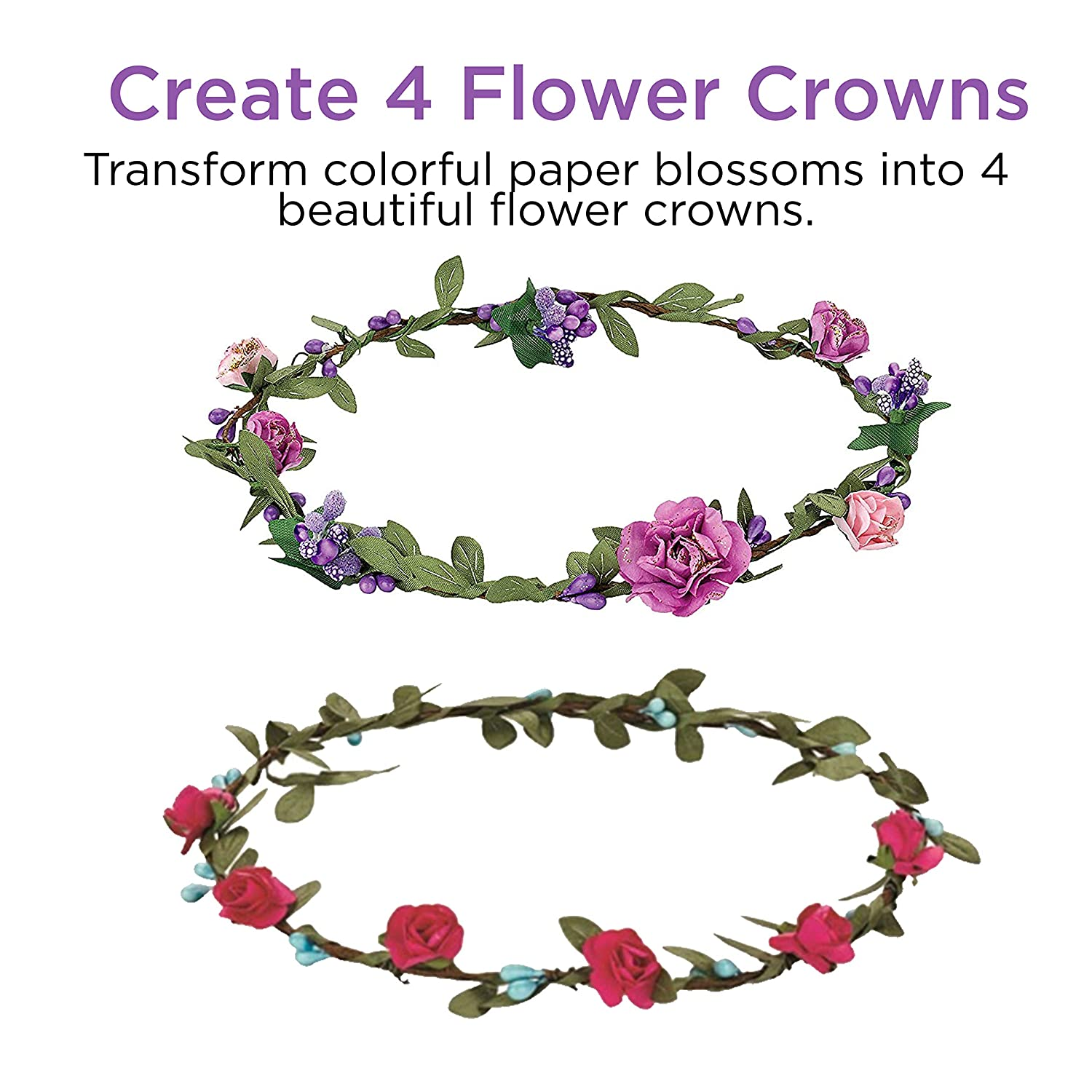 Amazon creativity for kids flower crowns hair accessory kit amazon creativity for kids flower crowns hair accessory kit for kids toys games izmirmasajfo