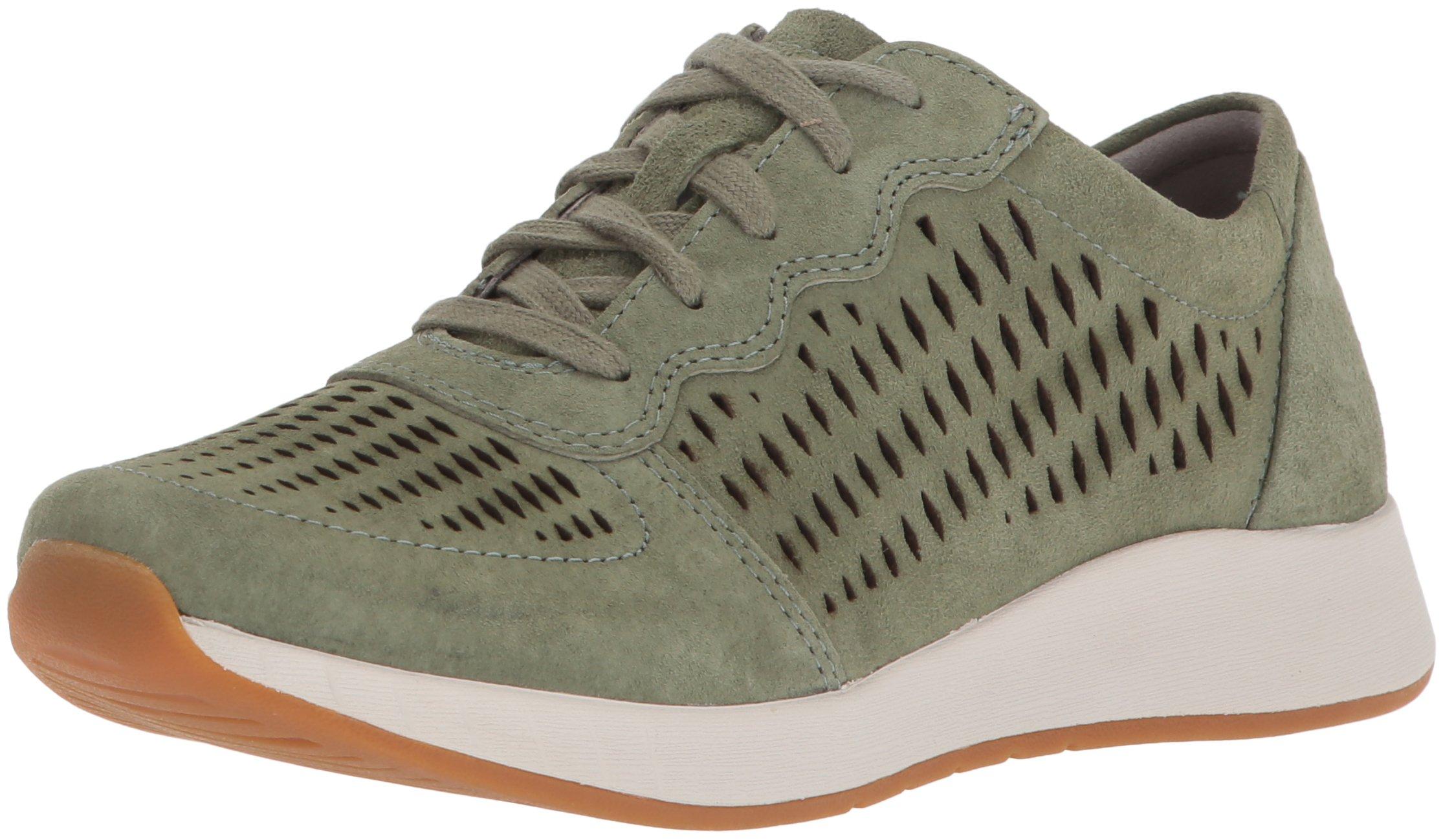 Dansko Women's Charlie Sneaker, Sage Suede, 38 M EU (7.5-8 US)