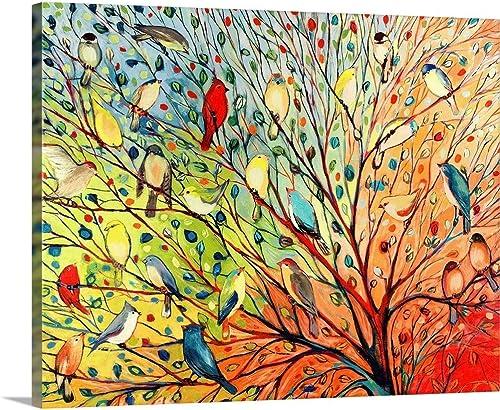 Twenty Seven Birds Canvas Wall Art Print