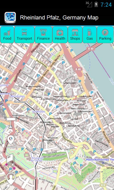 Amazon Com Rheinland Pfalz Germany Guide Map Duncan Cartography