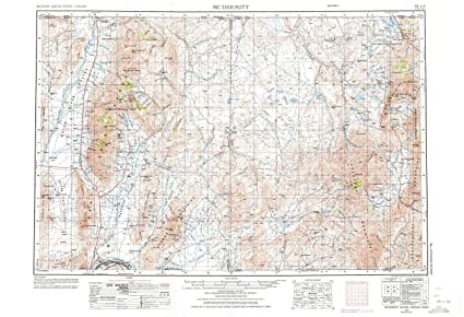 Topographic Map Of Nevada.Amazon Com Yellowmaps Mcdermitt Nv Topo Map 1 250000 Scale 1 X 2