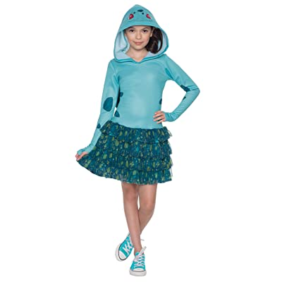 Rubie's Costume Pokemon Bulbasaur Child Hooded Costume Dress Costume, Medium: Toys & Games