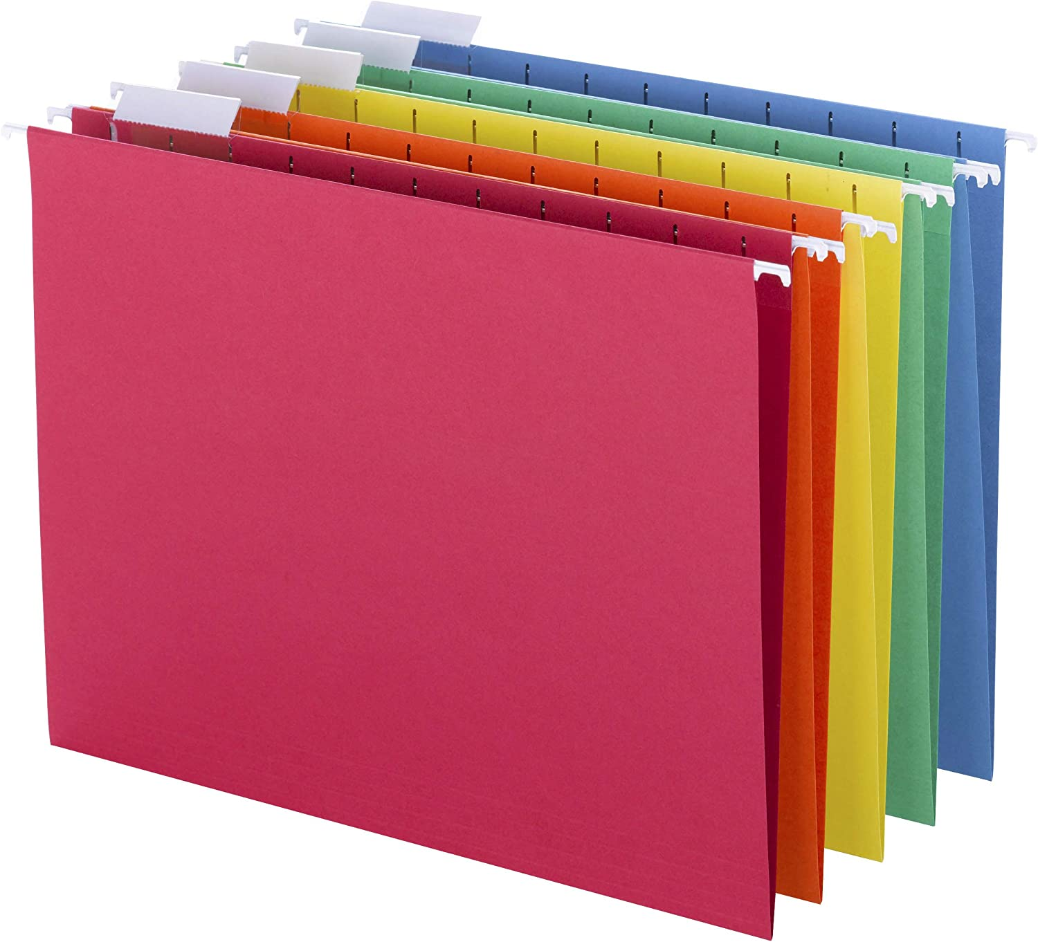 B00006IF4G Smead Colored Hanging File Folder with Tab, 1/5-Cut Adjustable Tab, Letter Size, Assorted Primary Colors, 25 Per Box (64059) 81w4wJ2ByAjL