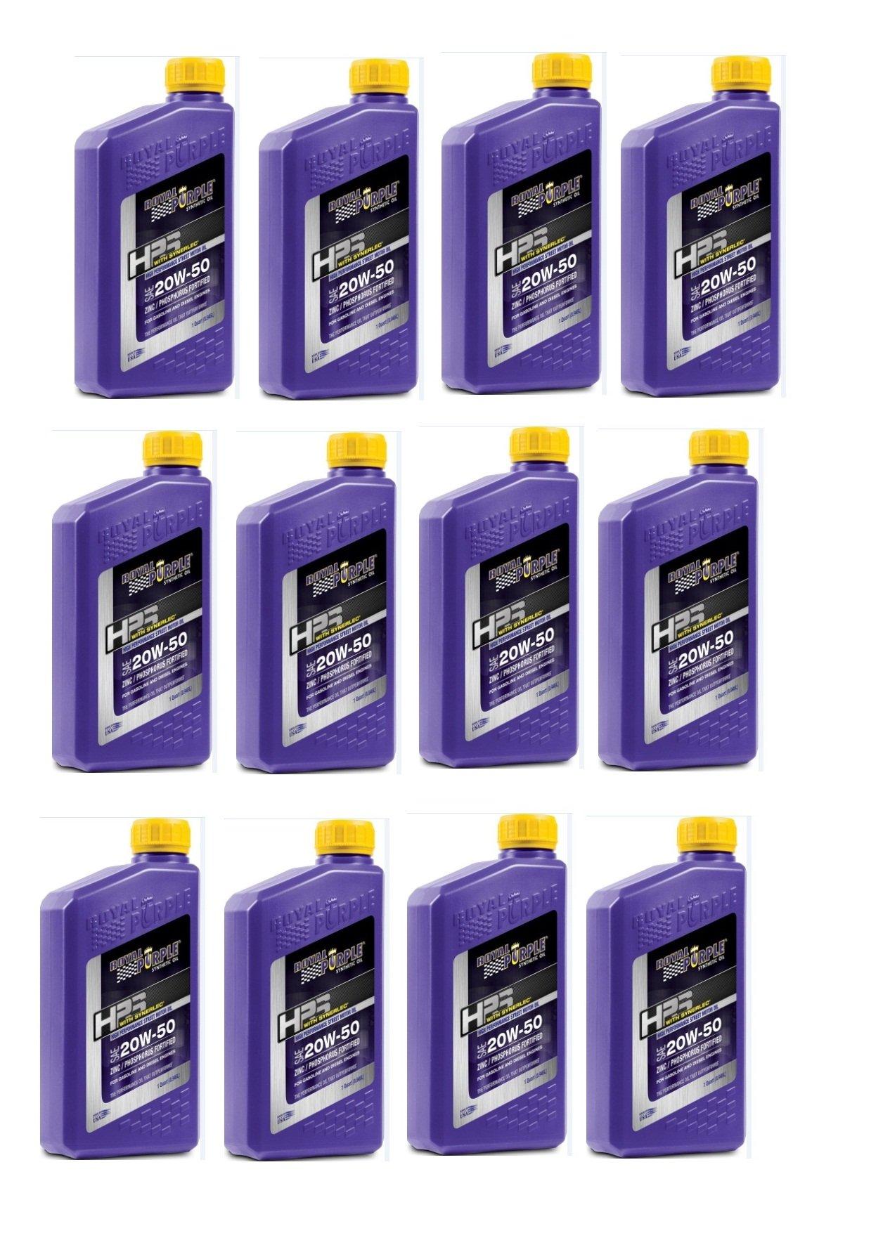 Royal Purple HPS Street Synthetic Motor Oil 20W-50 1 qt (Case of 12) by Royal Purple