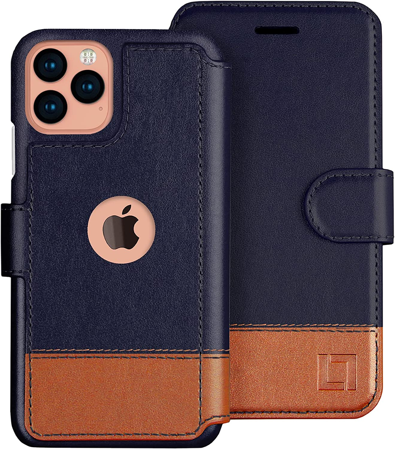 LUPA iPhone 12 Pro Max Wallet Case -Slim iPhone 12 Pro Max Flip Case with Credit Card Holder, for Women & Men, Faux Leather iPhone 12 Pro Max Purse Cases with Magnetic Closure, Desert Sky