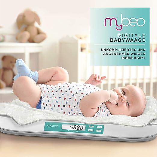 Smart Digital mit bluetooth und App MOA Babywaage Neugeborene 5 Gramm Genauigkei bis 20 kg Kinderwaage fur Baby und Kinder