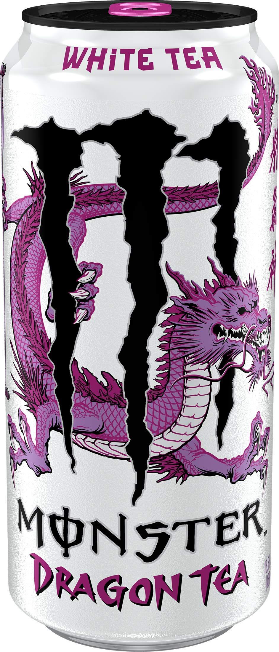 Monster Rehab White Dragon Tea, Tea + Dragon Fruit + Energy, Energy Iced Tea, 15.5 Ounce (Pack of 24) by Monster Energy (Image #1)