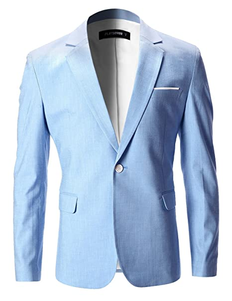 Amazon.com: FLATSEVEN chaqueta, blazer, con solapa en punta ...