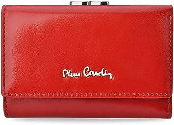 PIERRE CARDIN portfel-914 - Cartera para Mujer Mujer Rojo Rojo Klein