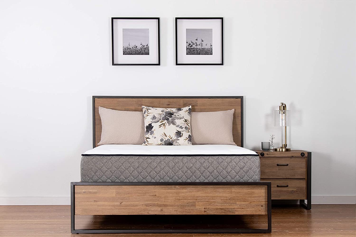 Health 1st Indulgent II Essential Hybrid, Memory Foam, Pocketed Coils, 11 Profile, Bed in a Box, Luxury Plush Feel, Queen
