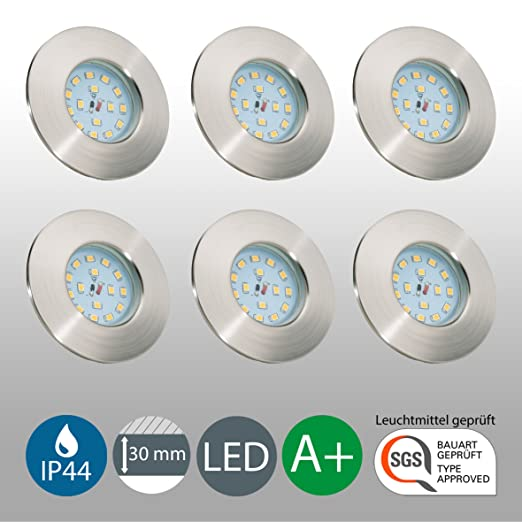 6 opinioni per Faretti LED compatti | Lampadine LED 5W | Illuminazione ad incasso | Set di 6