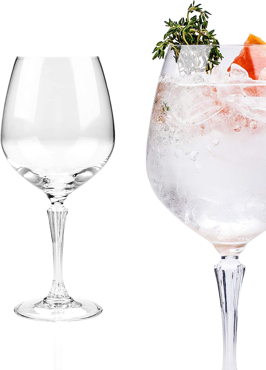SET OF 6 LARGE RCR CRYSTAL GIN AND TONIC GLASSES BALLOON GIN GLASSES 80cl each