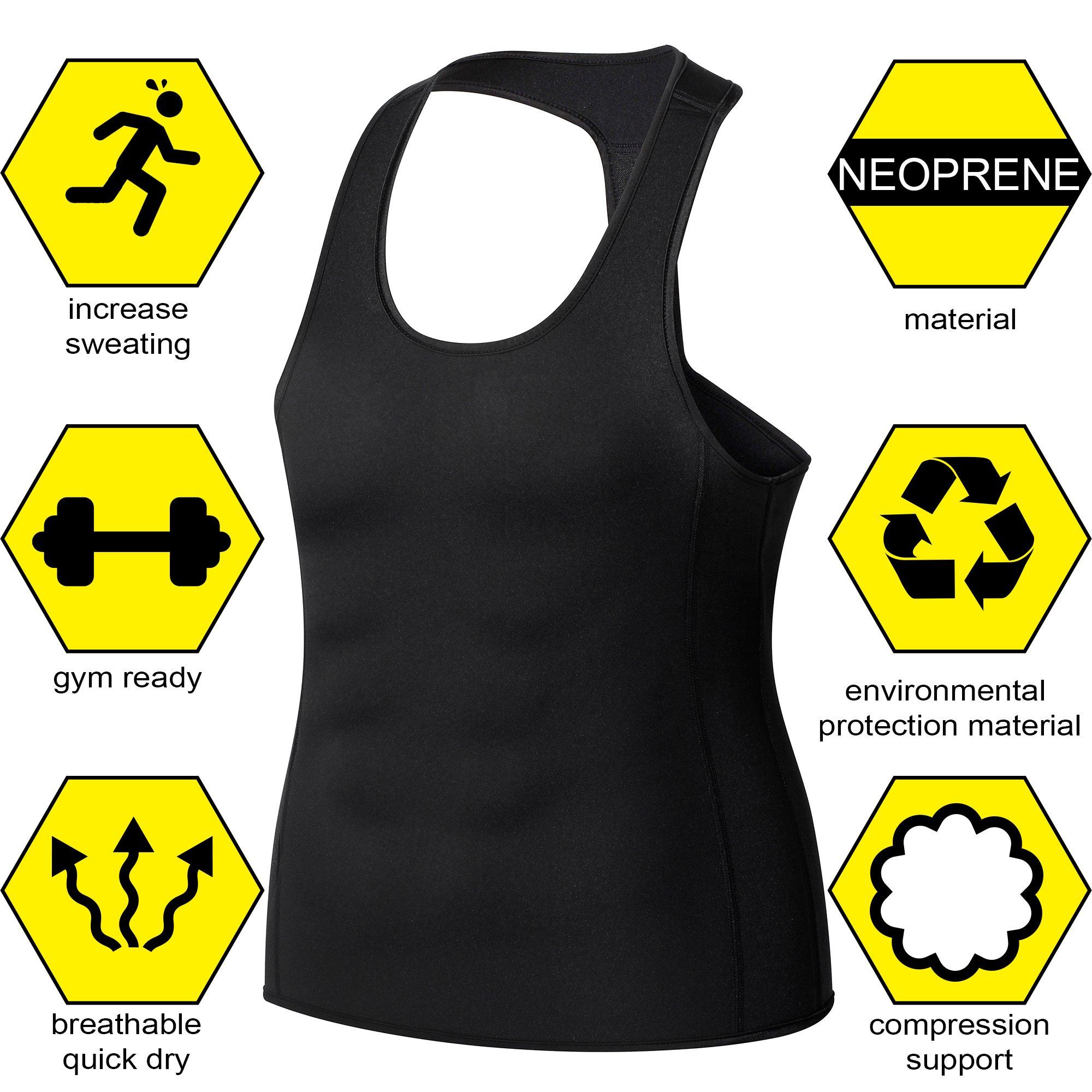 f96dbfe4d5222 Junlan Men Workout Tank Top Vest Gym Shirt Weight Loss Dress Waist Body  Shaper Sauna Suit Slim Corset Compression Clothes   Accessories   Sports    Outdoors ...
