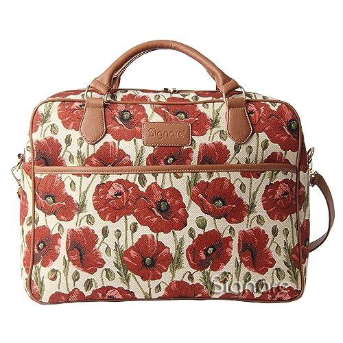 0afdcea550 Borsa Signare a spalla convertibile in tessuto stile arazzo alla moda  papavero: Amazon.it: Scarpe e borse