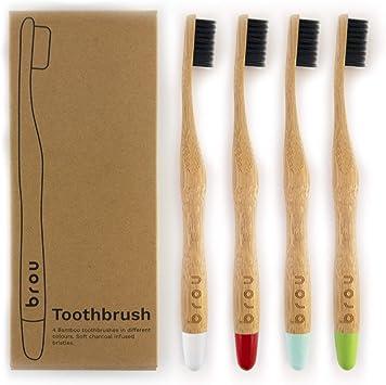 BROU | Cepillo de dientes de carbón de bambú premium biodegradable ...