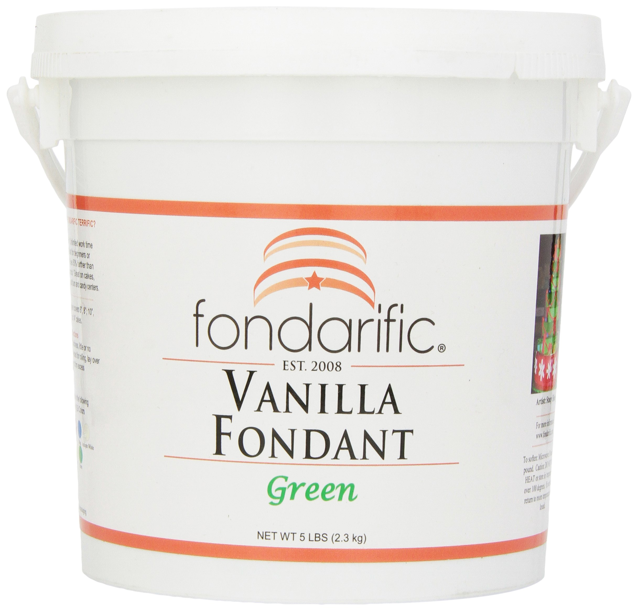 Fondarific Vanilla Green Fondant, 5-Pounds