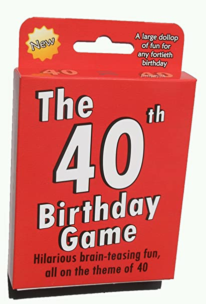 Amazon The 40th Birthday Game Fun New Gift Or Party Idea