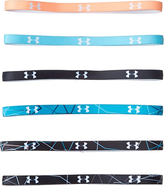 6 Pack Under Armour Accessories 1286897 Under Armour Womens Graphic Mini Headbands