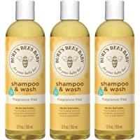 Burt's Bees Baby Shampoo & Wash, Fragrance Free, 12 Ounces (Pack of 3) (Packaging...
