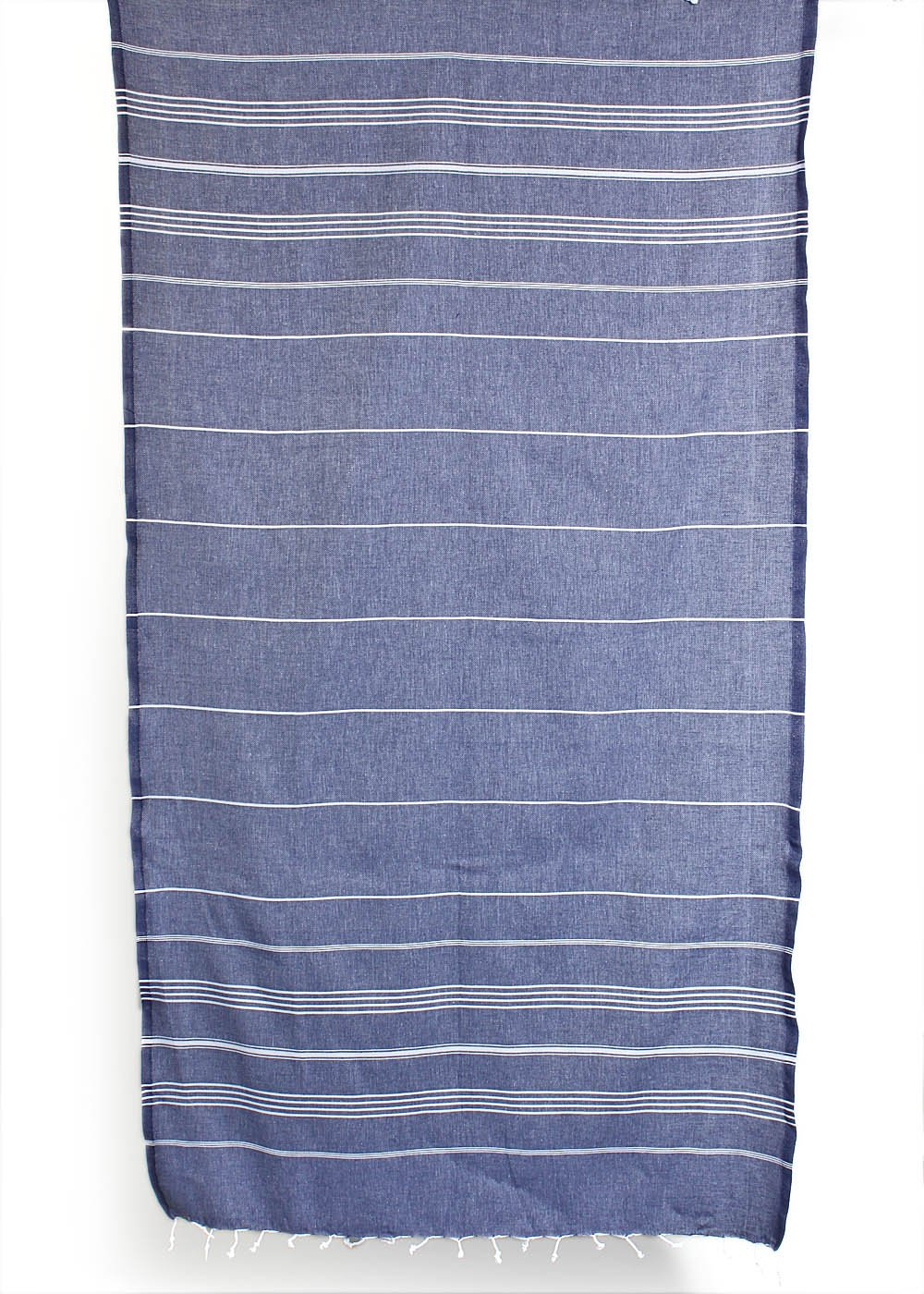 Cacala 100% Cotton Pestemal Turkish Bath Towel, 37 x 70, Dark Blue by Cacala (Image #5)