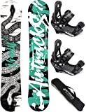 AIRTRACKS SNOWBOARD SET / VENOM CARBON SNOWBOARD WIDE ROCKER + SOFTBINDING SAVAGE + SB BAG / 146 151 156 161 / cm