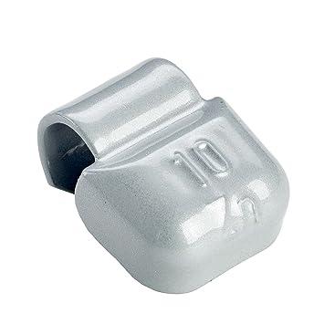 100x Pesos de rueda Typ661 10g | Contrapesos rueda de equilibrio para llantas aluminio | Contrapesos de equilibrado tira: Amazon.es: Coche y moto