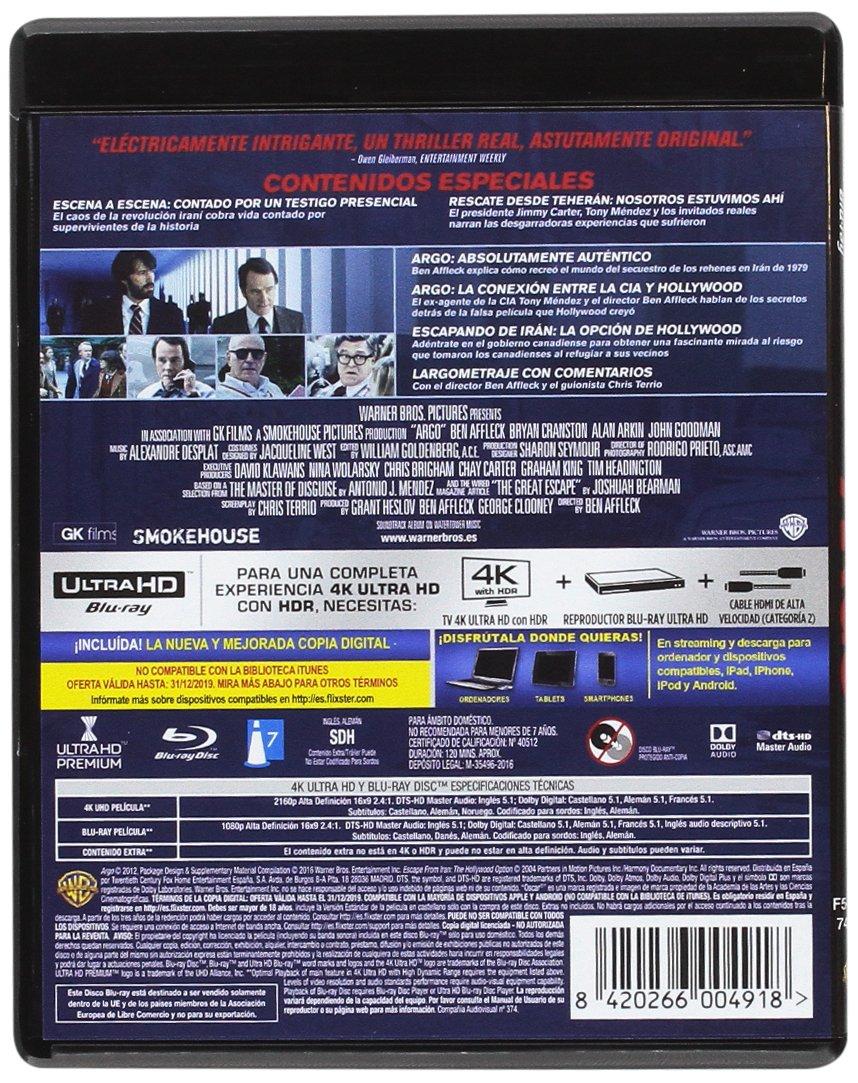 Argo 4k Uhd [Blu-ray]: Amazon.es: Alan Arkin, John Goodman, Ben ...