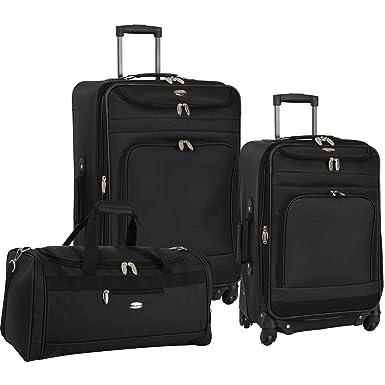 Amazon.com | Travel Gear Luggage Spectrum II 3 Piece Luggage Set ...