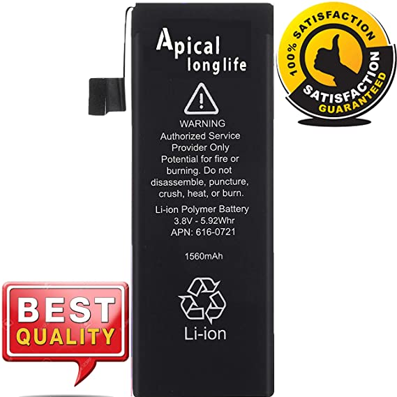 985813cde30 Amazon.com: APICAL Longlife Replacement-Battery Compatible for iP-5S ...