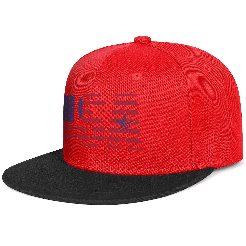 KYTKYTT Unisex Mesh Snapback Caps American Flag Peace Sign Flat Hip Hop Baseball Hats