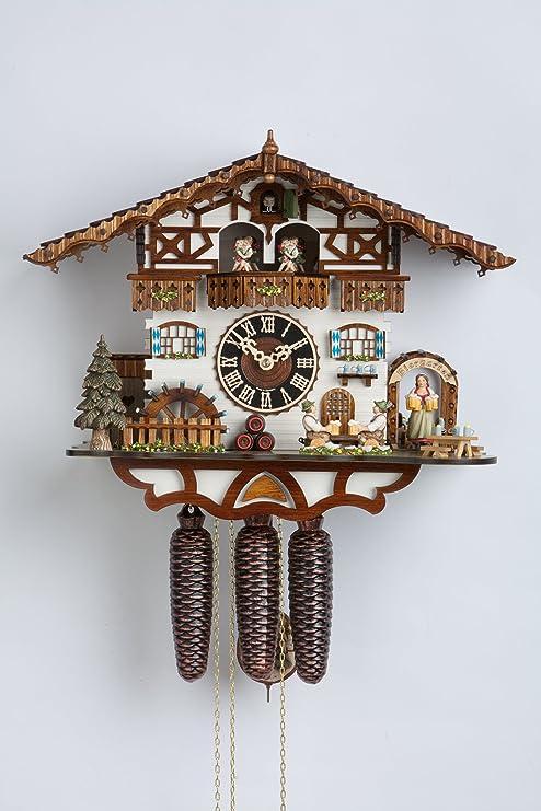 Alemán Reloj de cuco - estilo Chalet - mecanismo con cuerda para 8 días - 36