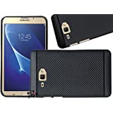 Jkobi 360* Protection Dotted Designed Soft Rubberised Back Case Cover For Samsung Galaxy J Max -Black
