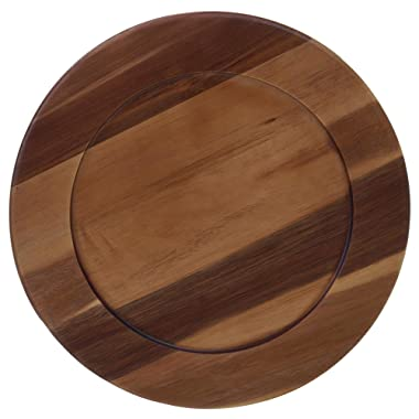 Certified International 22525 Acacia Wood Charger Plate, 13  Servware, Serving Accessories, One Size, Multicolored
