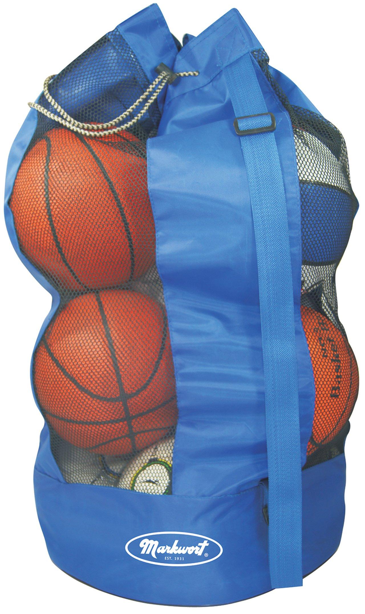 Markwort 8 Basketball Capacity Ball Bag, Blue