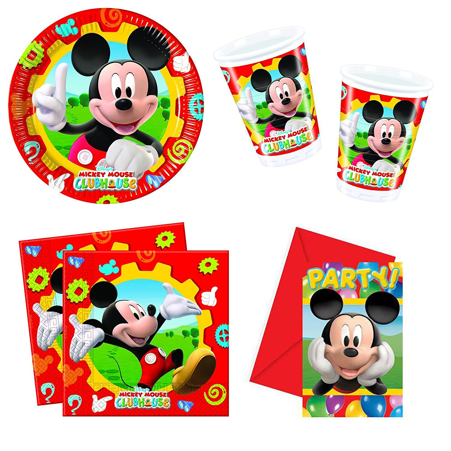 Gameworld 46-Teiliges Mickey Maus Wunderhaus Variante 1 Party-Set ...
