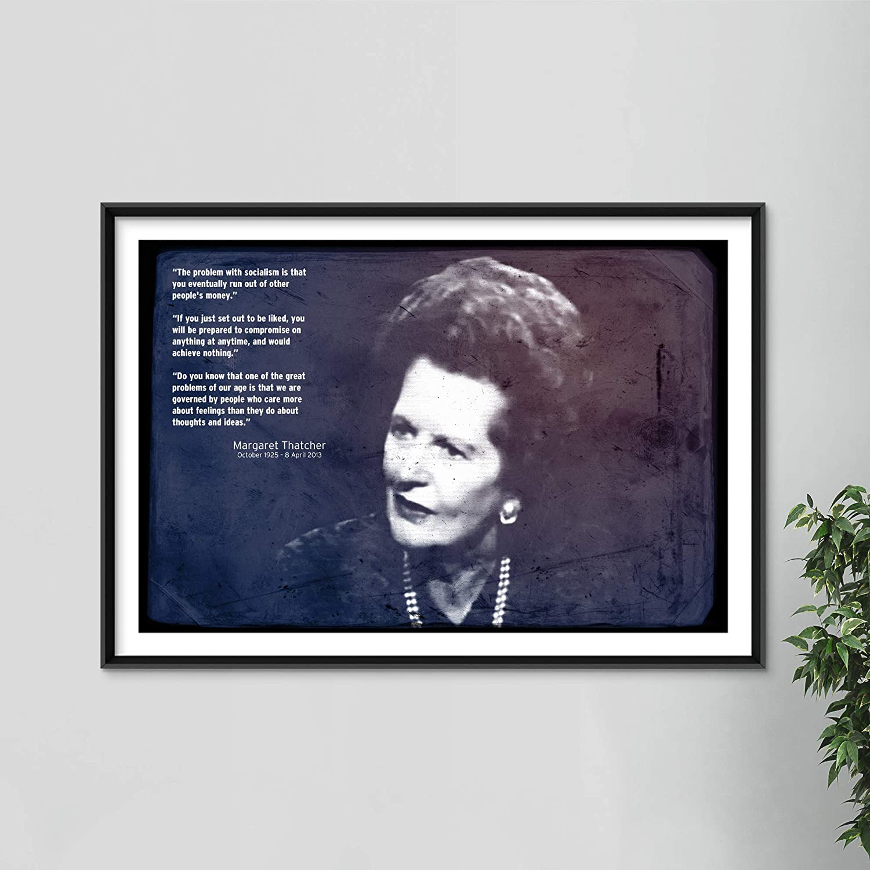 CANVAS Margaret Thatcher Art print POSTER