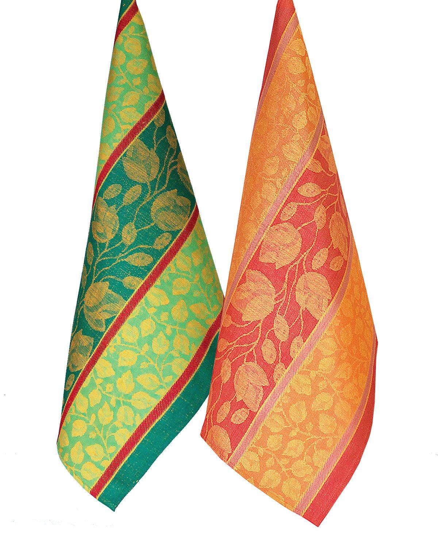 Armani International Foglio Kitchen Dish Towel Set of 4 Linen Cotton | Crafted in Europe by Armani International