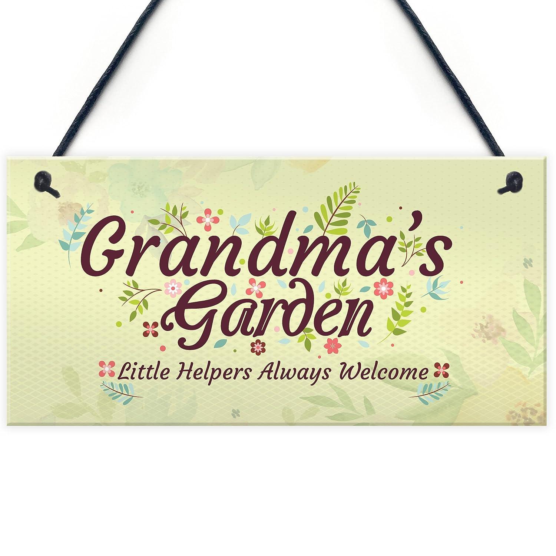 Garden Plaque Grandma Hanging Rustic Black Slate Plaque GRANDMAS GARDEN TENDED