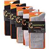 FootPrints Organic Cotton and Bamboo Men's Formal Socks Pack of 5-2 Black, 2 Grey, 1White