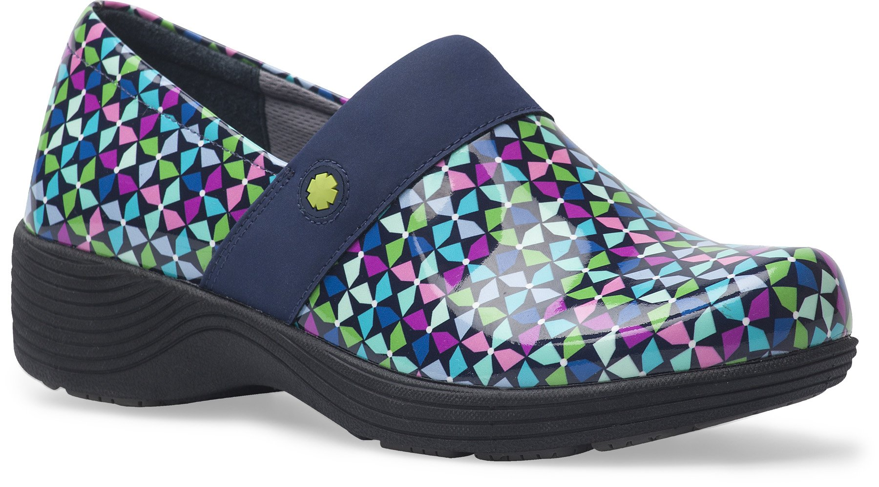 Work Wonders by Dansko Women's Camellia Slip Resistant Shoe- Pinwheel Patent- 39 M EU (8.5-9 US)